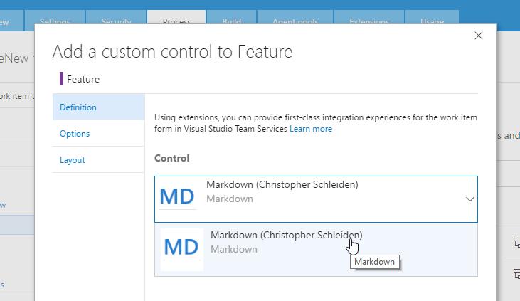 Select Markdown control
